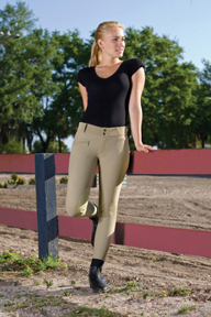 Large DEVON-AIRE Girls All-Pro Hipster Breech Charcoal
